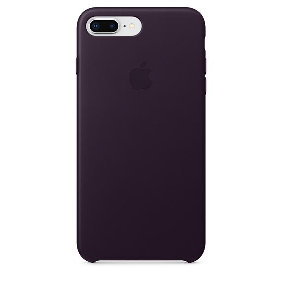 Apple kožený obal pre iPhone 7 Plus / 8 Plus – baklažánová 1