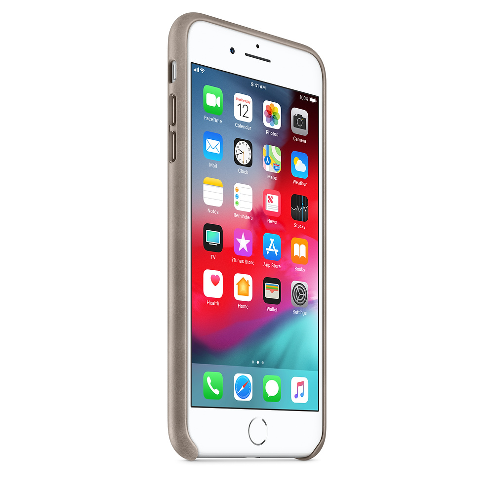 Apple kožený obal pre iPhone 7 Plus / 8 Plus – dymový 2