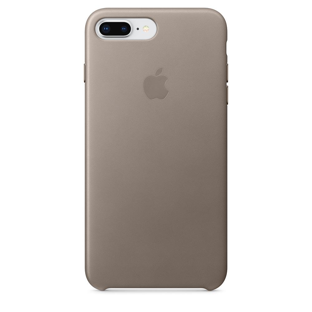 Apple kožený obal pre iPhone 7 Plus / 8 Plus – dymový 1