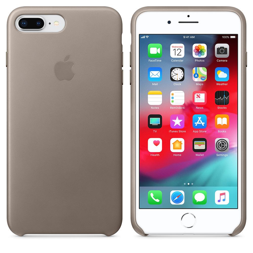 Apple kožený obal pre iPhone 7 Plus / 8 Plus – dymový 3