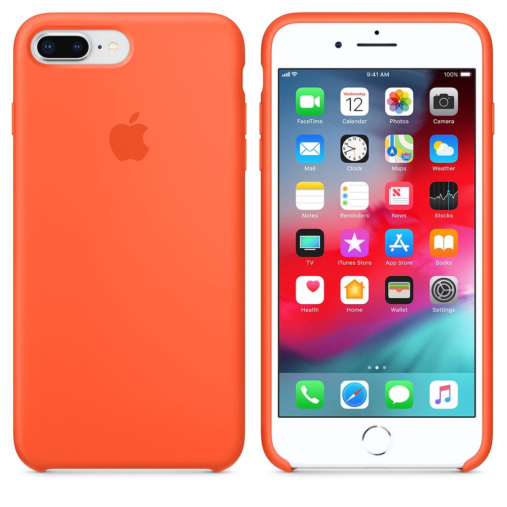 Apple kožený obal pre iPhone 7 Plus / 8 Plus – oranžový 3