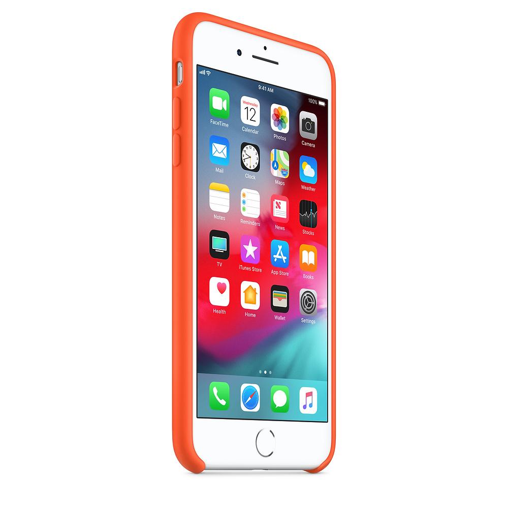 Apple kožený obal pre iPhone 7 Plus / 8 Plus – oranžový 2