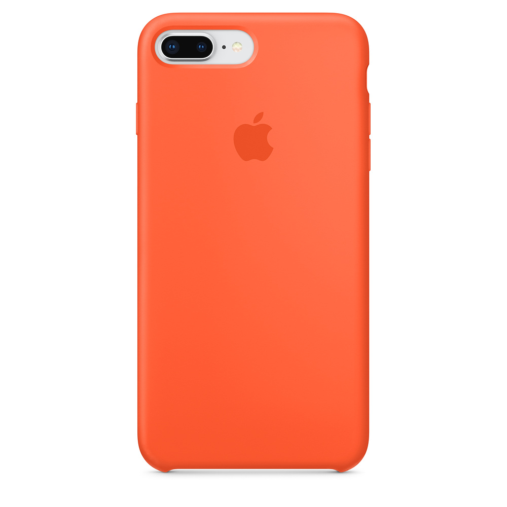 Apple kožený obal pre iPhone 7 Plus / 8 Plus – oranžový 1