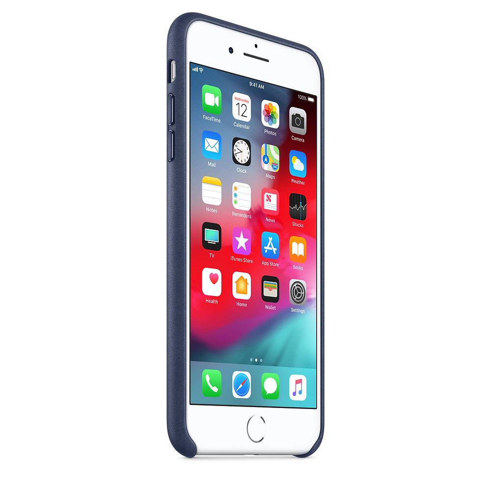 Apple kožený obal pre iPhone 7 Plus / 8 Plus – polnočne modrý 2
