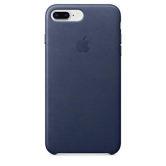 Apple kožený obal pre iPhone 7 Plus / 8 Plus – polnočne modrý 1