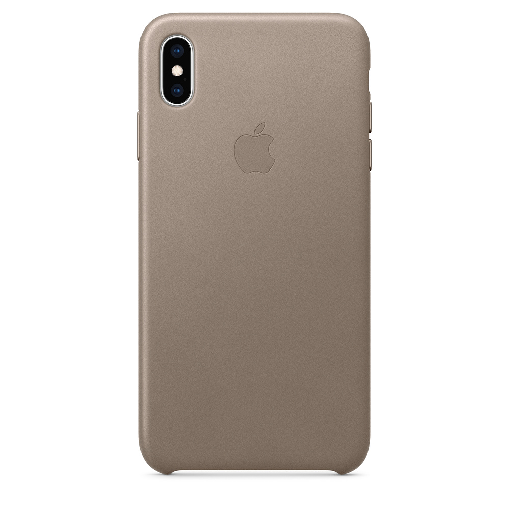 Apple kožený obal pre iPhone XS Max – dymový 1