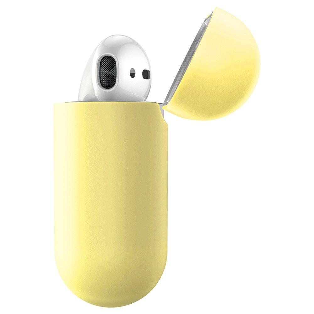 Baseus Airpods ultratenký silikónový obal - žltý 2
