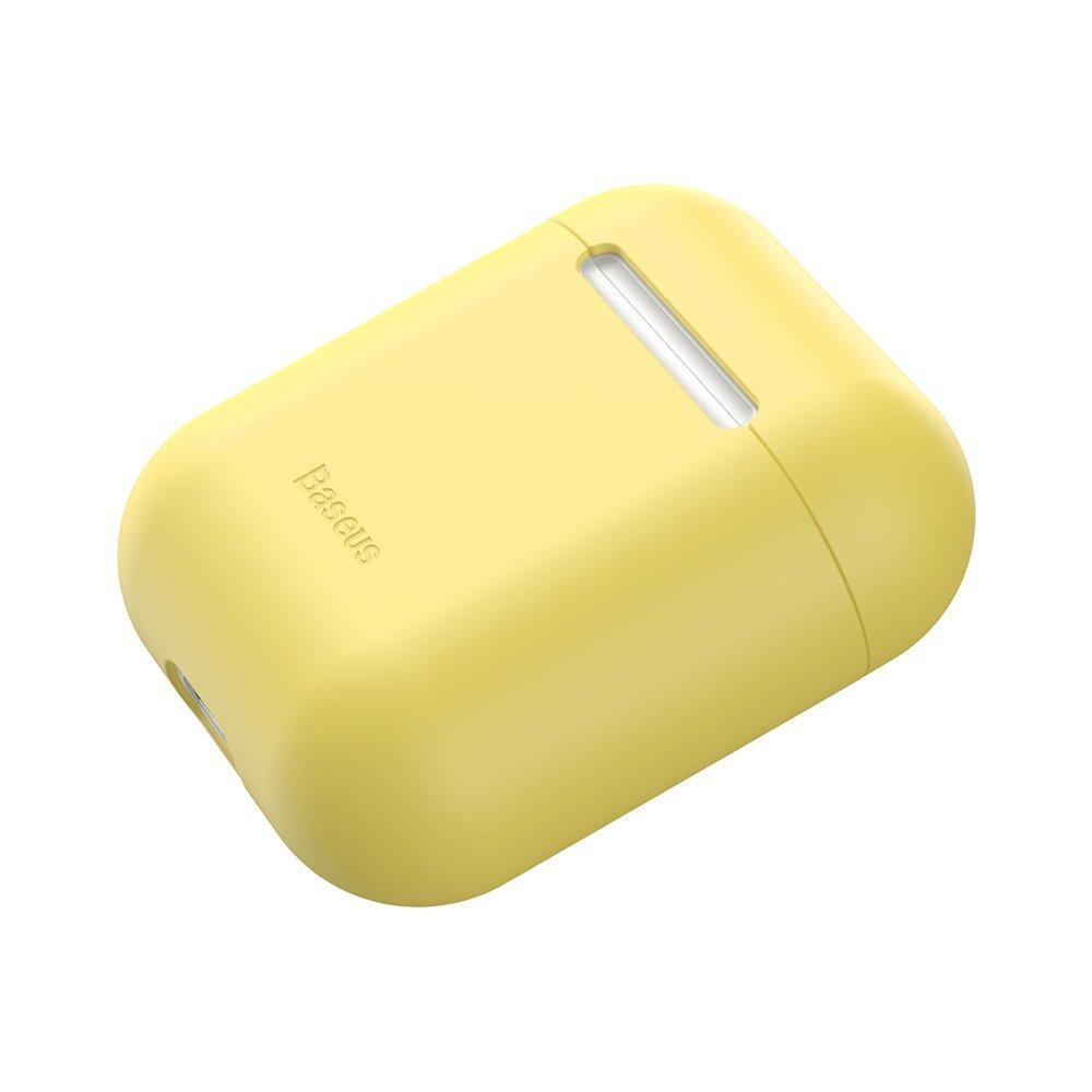 Baseus Airpods ultratenký silikónový obal - žltý 3