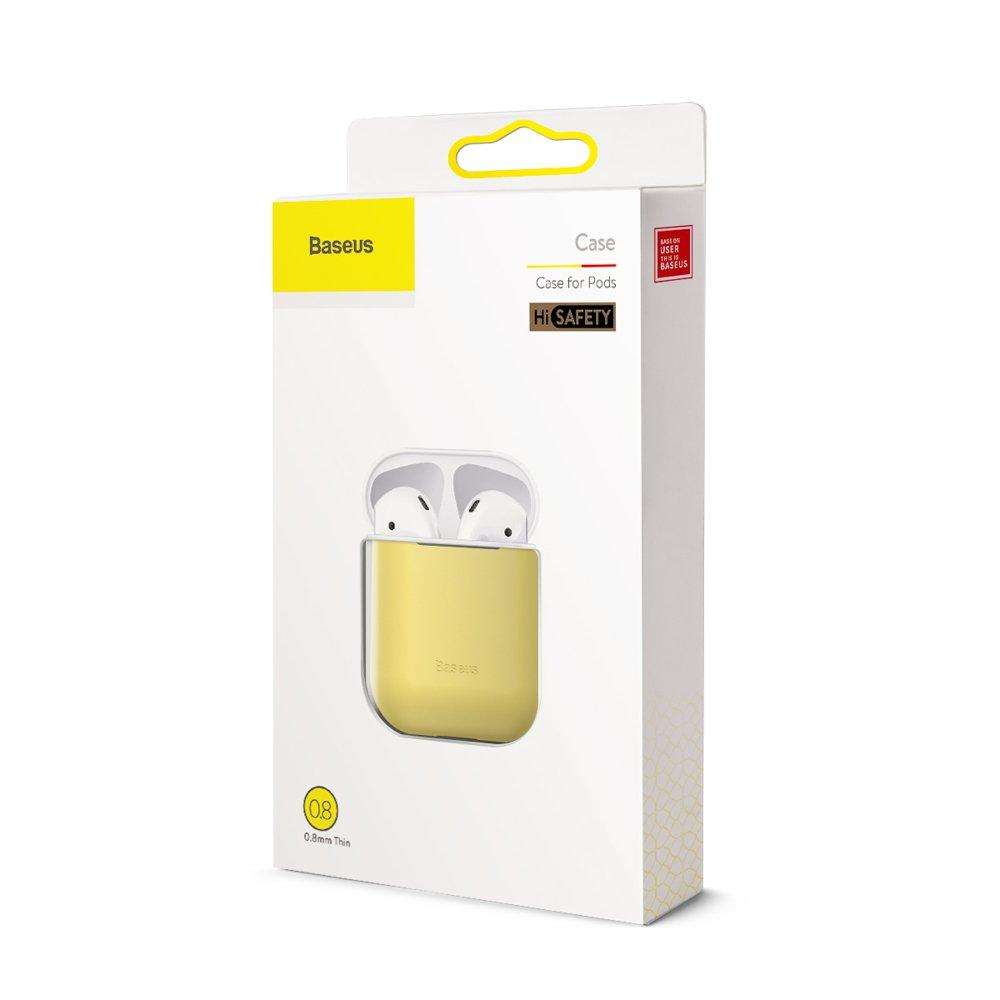 Baseus Airpods ultratenký silikónový obal - žltý 4