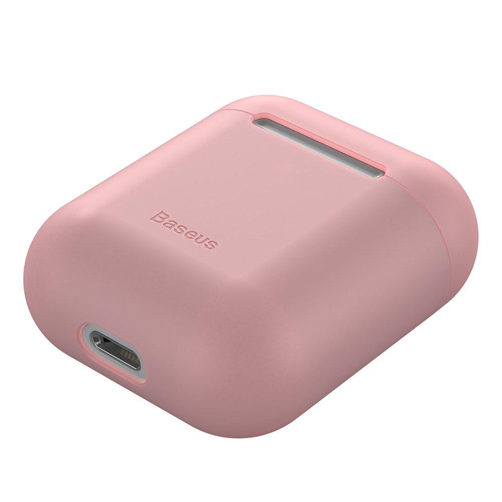 Baseus Airpods ultratenký silikónový obal - ružový 2