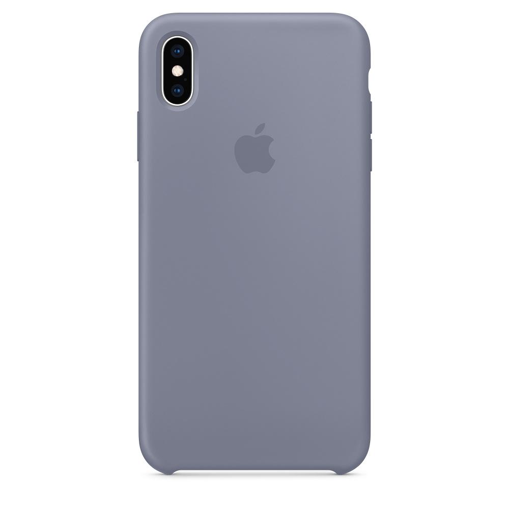 Apple silikónový obal pre iPhone XS – levanduľovo sivý 1