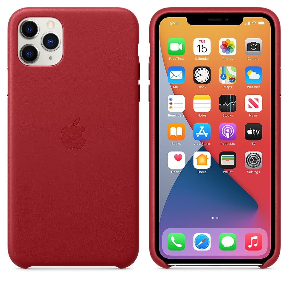 Apple kožený obal pre iPhone 11 Pro – (PRODUCT)RED 4