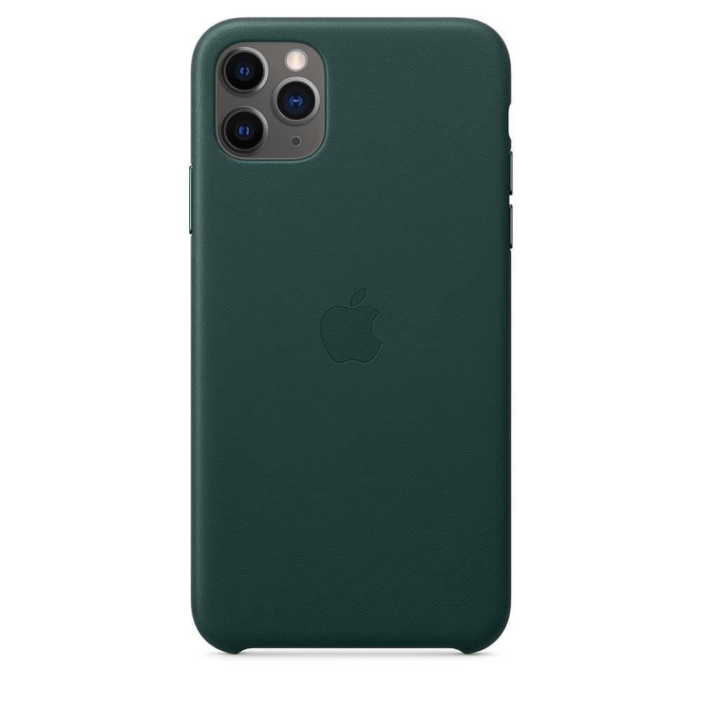 Apple kožený obal pre iPhone 11 Pro Max – borovicový 3