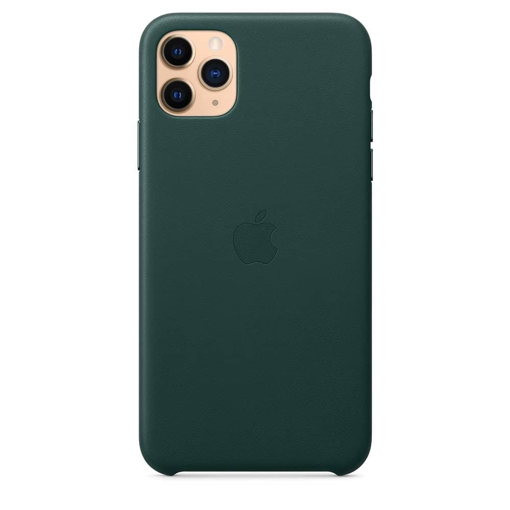 Apple kožený obal pre iPhone 11 Pro Max – borovicový 1