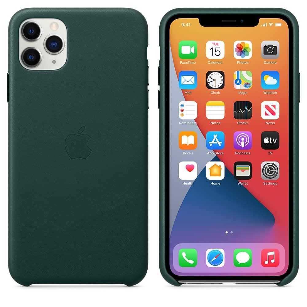 Apple kožený obal pre iPhone 11 Pro Max – borovicový 4