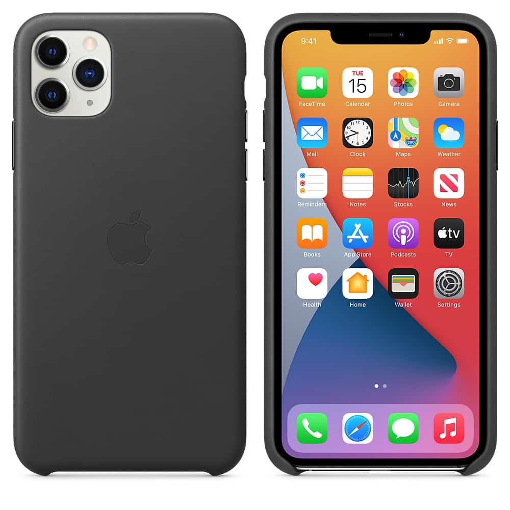 Apple kožený obal pre iPhone 11 Pro Max – čierny 4
