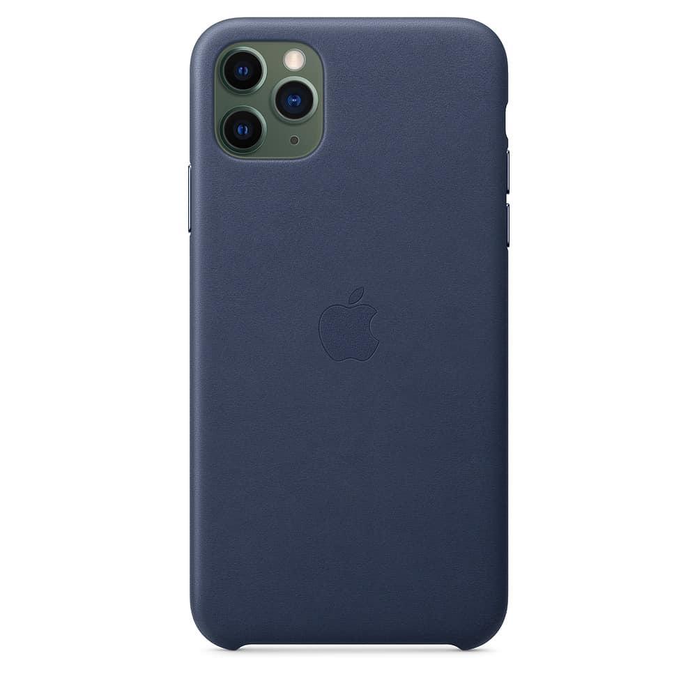 Apple kožený obal pre iPhone 11 Pro – polnočne modrý 3