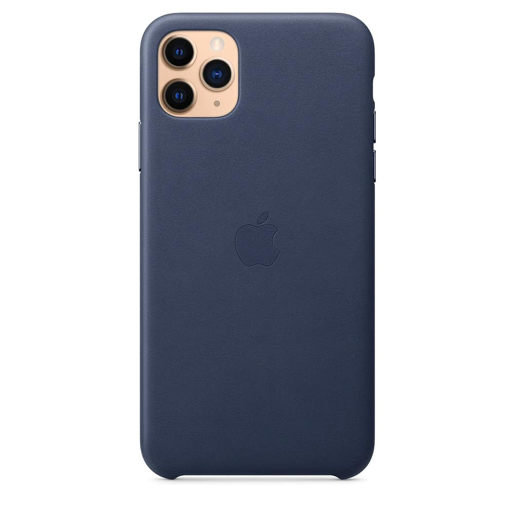 Apple kožený obal pre iPhone 11 Pro – polnočne modrý 1