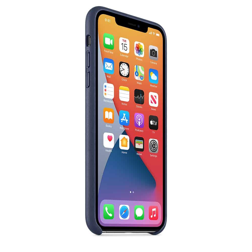 Apple kožený obal pre iPhone 11 Pro – polnočne modrý 2