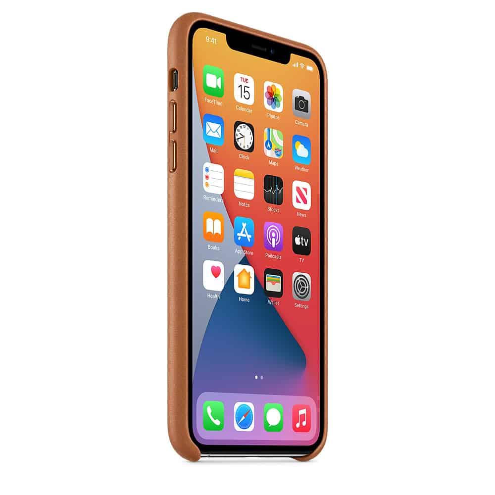Apple kožený obal pre iPhone 11 Pro – sedlovo hnedá 2