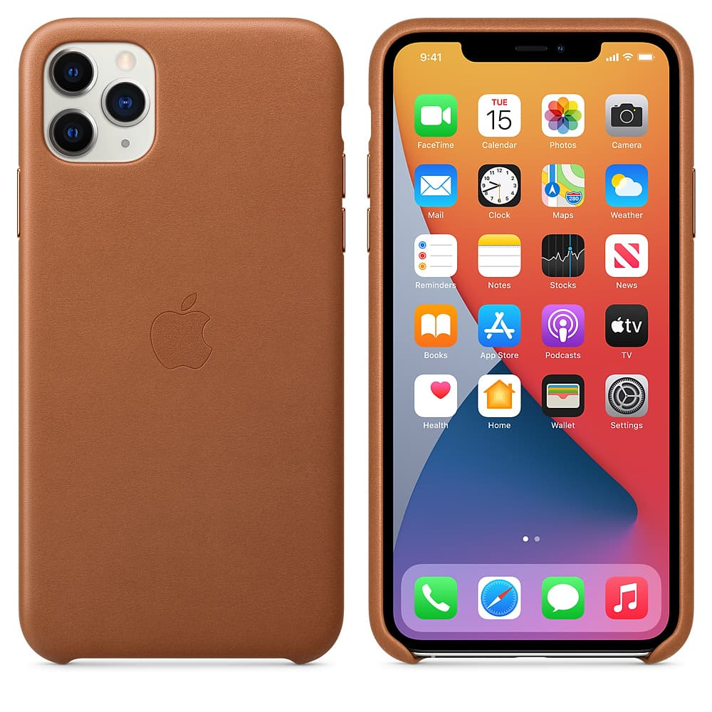 Apple kožený obal pre iPhone 11 Pro – sedlovo hnedá 4