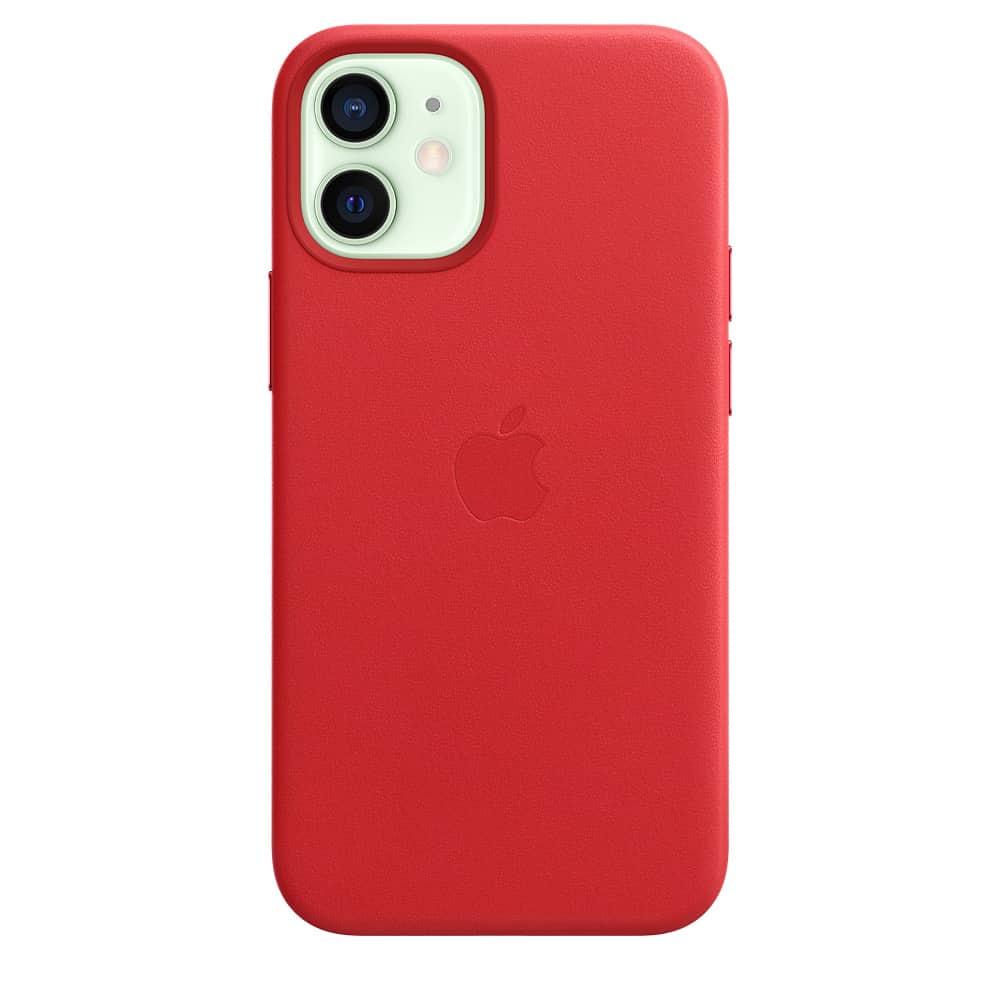 Apple kožený obal pre iPhone 12 Mini – červený s MagSafe 3