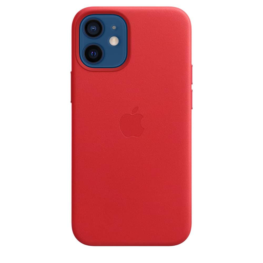 Apple kožený obal pre iPhone 12 Mini – červený s MagSafe 1