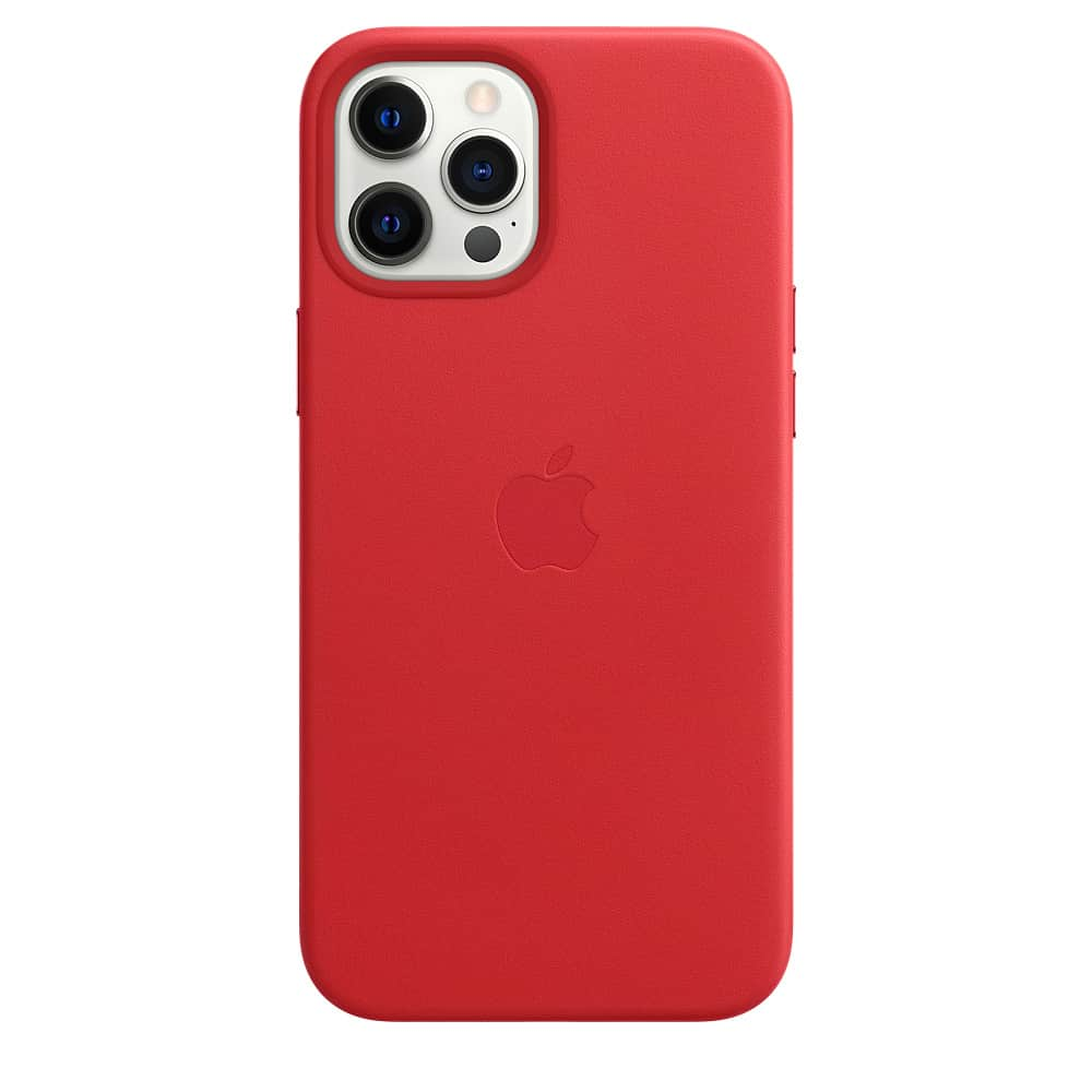Apple kožený obal pre iPhone 12 Pro Max – červený s MagSafe 1