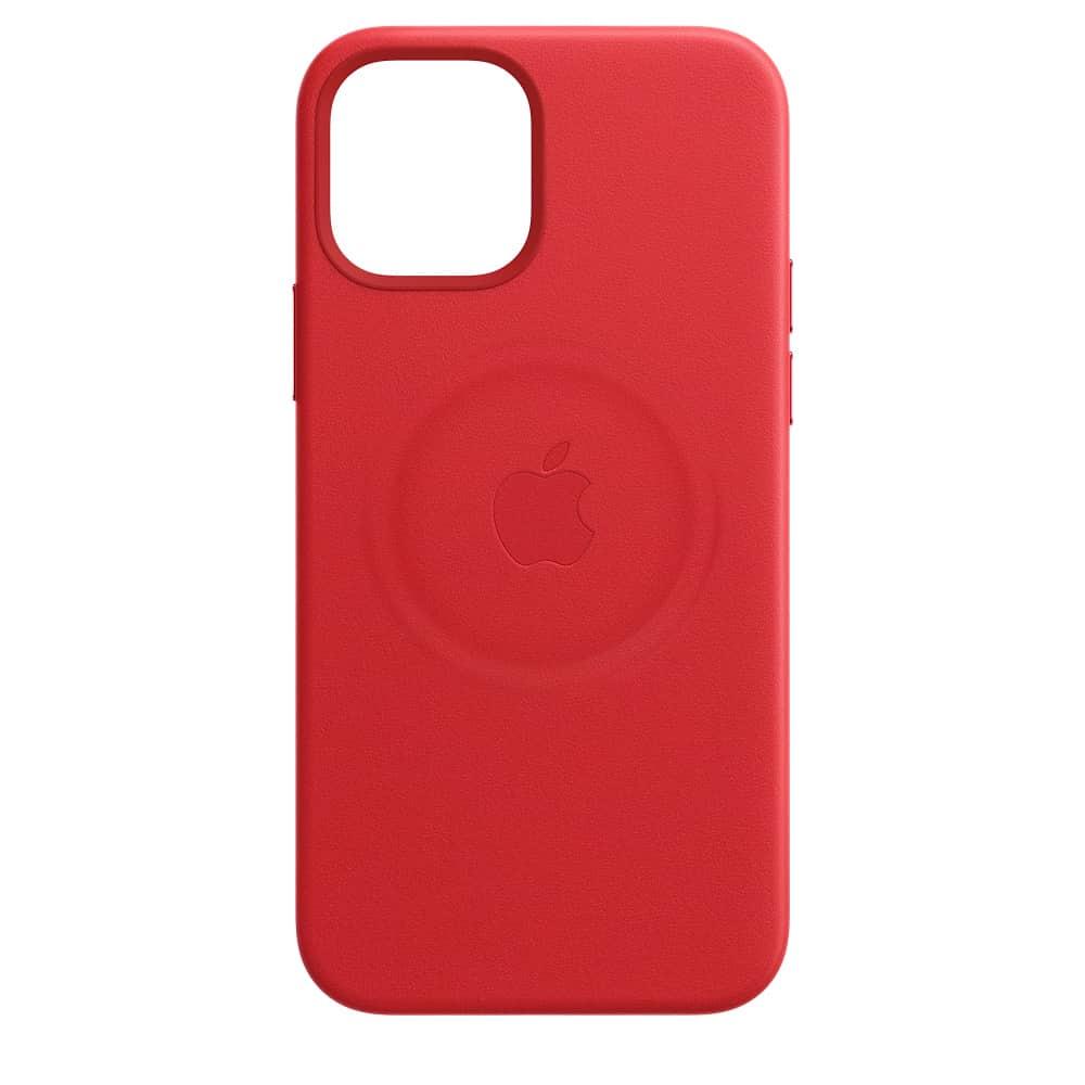 Apple kožený obal pre iPhone 12 Pro Max – červený s MagSafe 2