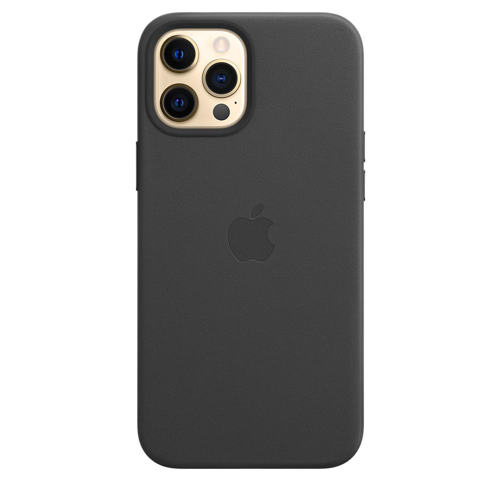 Apple kožený obal pre iPhone 12 Pro Max – čierny s MagSafe 4