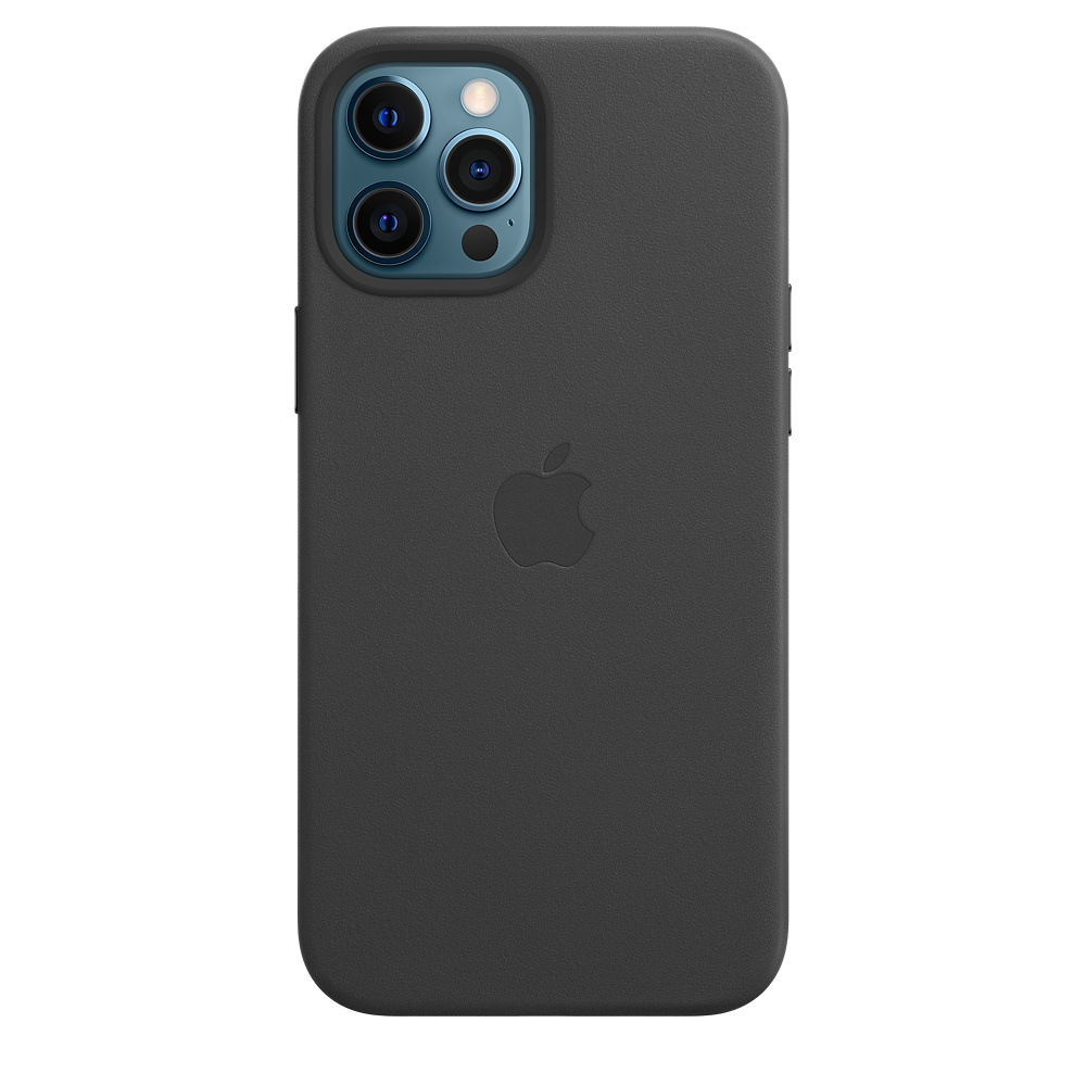 Apple kožený obal pre iPhone 12 Pro Max – čierny s MagSafe 3