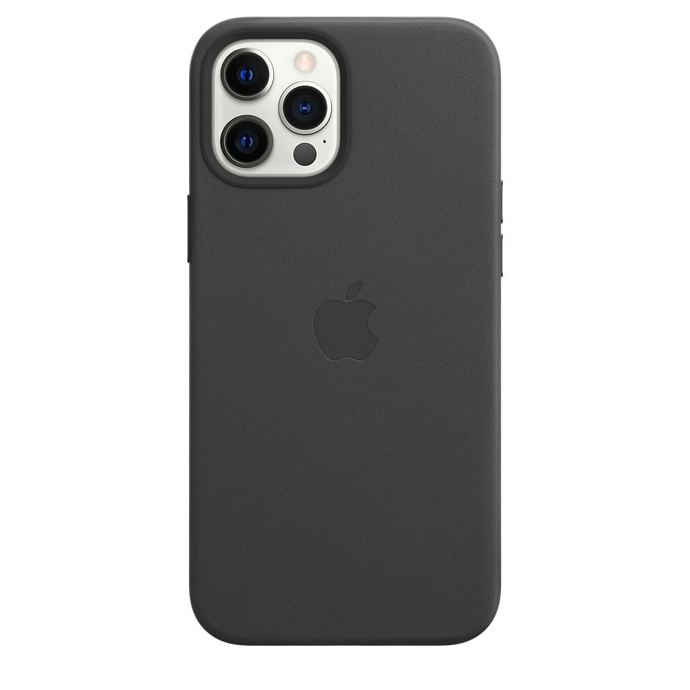 Apple kožený obal pre iPhone 12 Pro Max – čierny s MagSafe 1