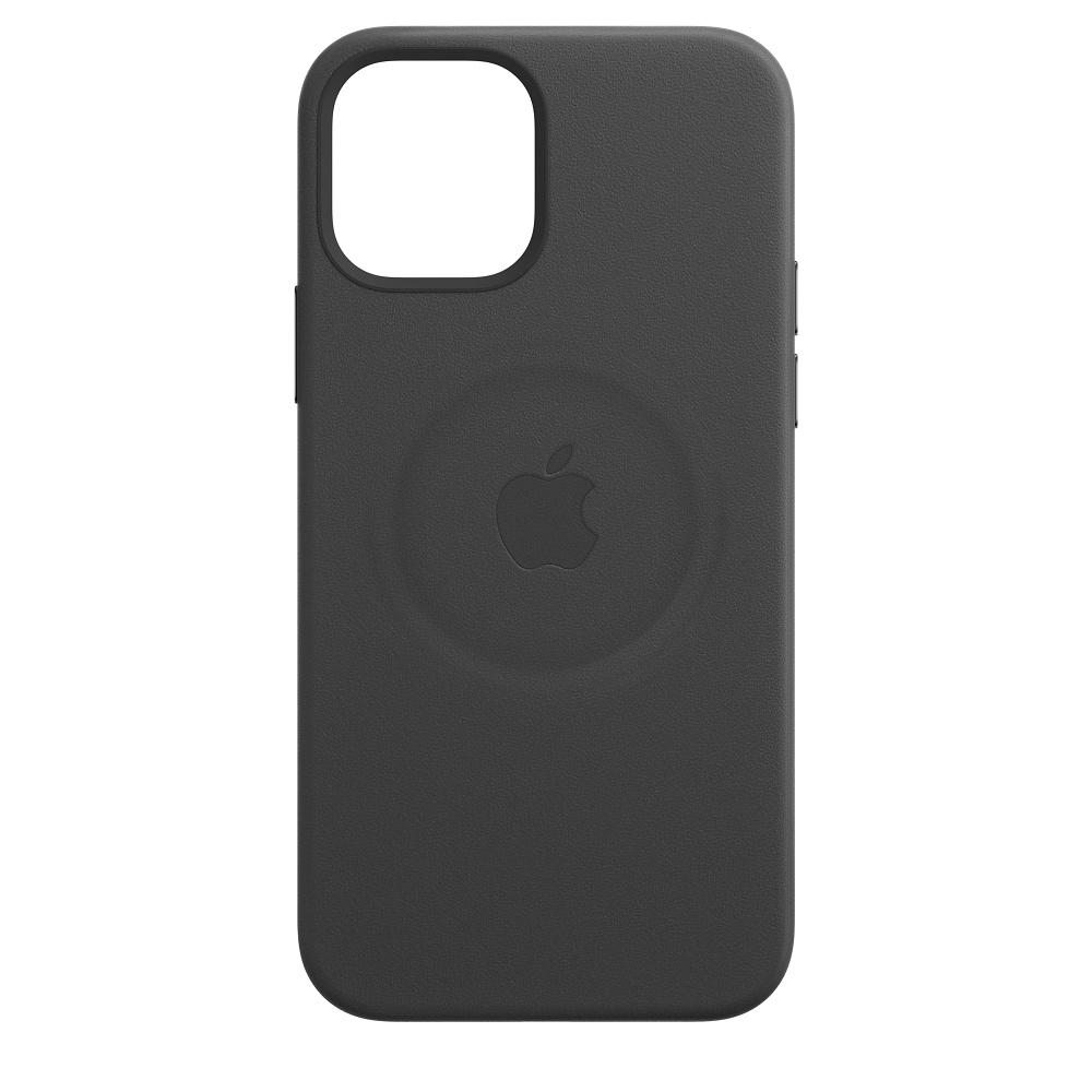 Apple kožený obal pre iPhone 12 Pro Max – čierny s MagSafe 2