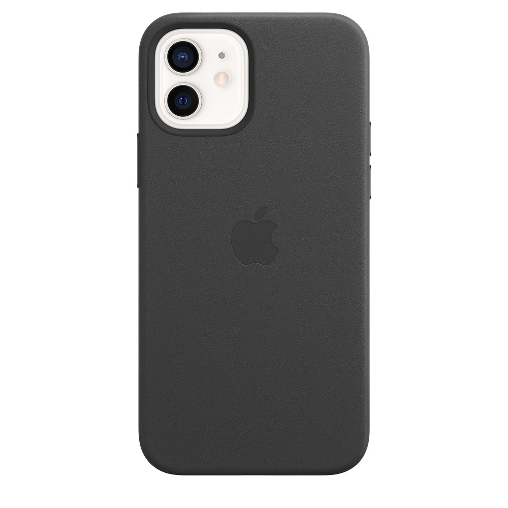 Apple kožený obal pre iPhone 12/12 Pro – čierny s MagSafe 3
