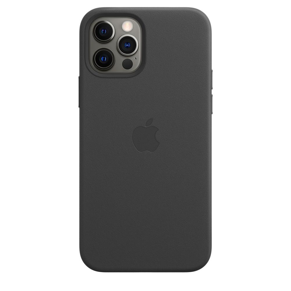 Apple kožený obal pre iPhone 12/12 Pro – čierny s MagSafe 4