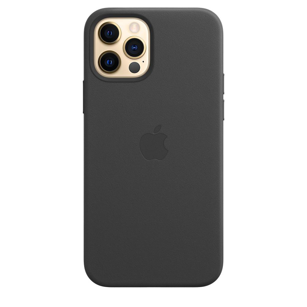 Apple kožený obal pre iPhone 12/12 Pro – čierny s MagSafe 1