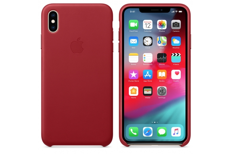 Apple kožený obal pre iPhone XS – (PRODUCT)RED 3