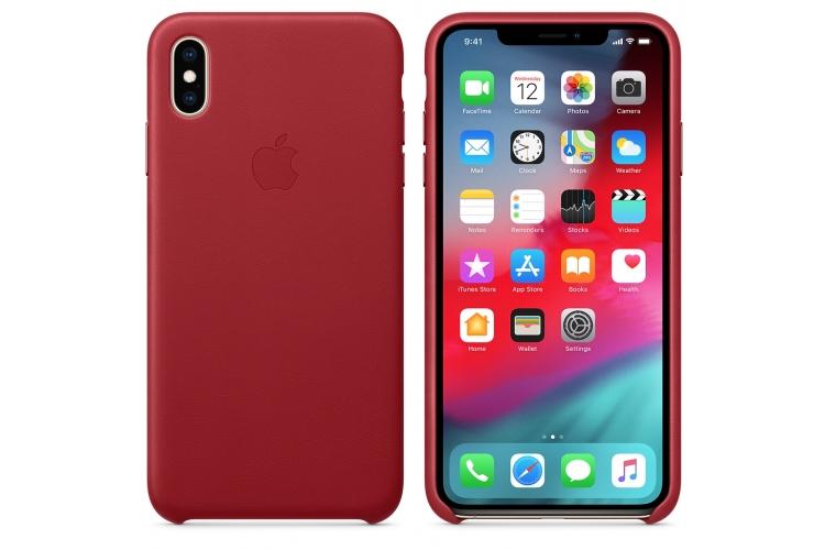 Apple kožený obal pre iPhone X – (PRODUCT)RED 3