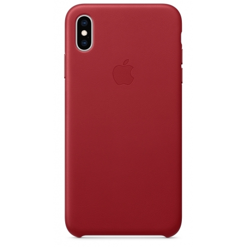Apple kožený obal pre iPhone XS – (PRODUCT)RED 1