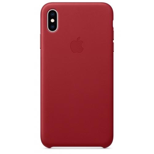 Apple kožený obal pre iPhone X – (PRODUCT)RED 1