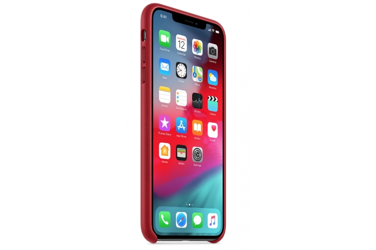 Apple kožený obal pre iPhone XS – (PRODUCT)RED 2