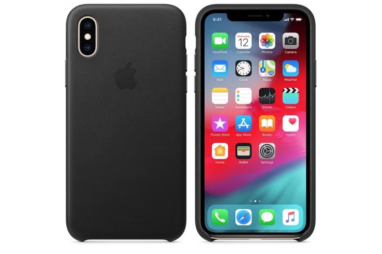 Apple kožený obal pre iPhone XS – čierny 3