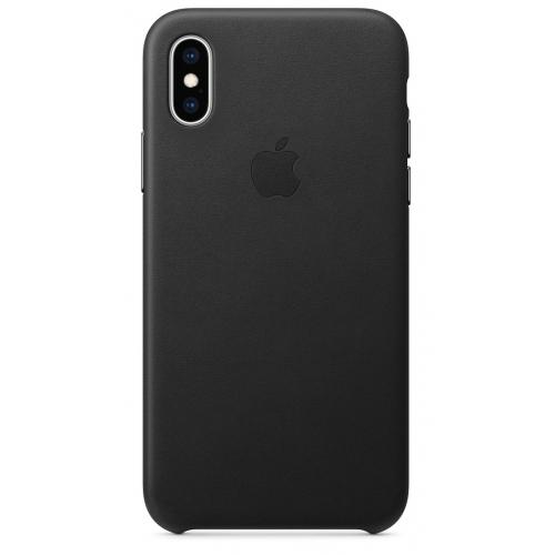 Apple kožený obal pre iPhone XS – čierny 1
