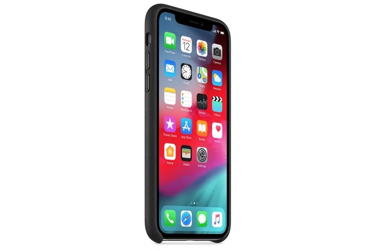 Apple kožený obal pre iPhone XS – čierny 2