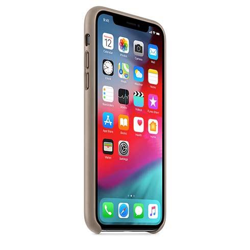 Apple kožený obal pre iPhone X – dymový 2
