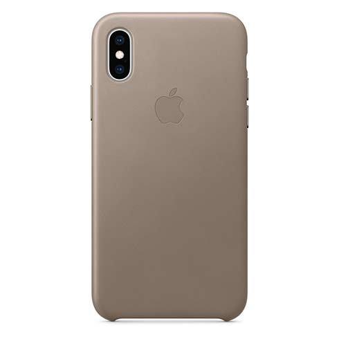 Apple kožený obal pre iPhone XS – dymový 1