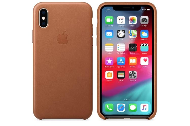 Apple kožený obal pre iPhone XS – sedlovo hnedá 3