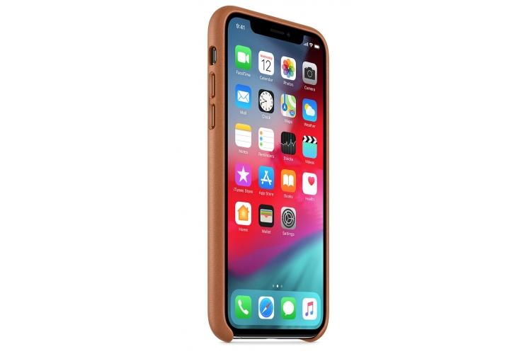 Apple kožený obal pre iPhone XS – sedlovo hnedá 2