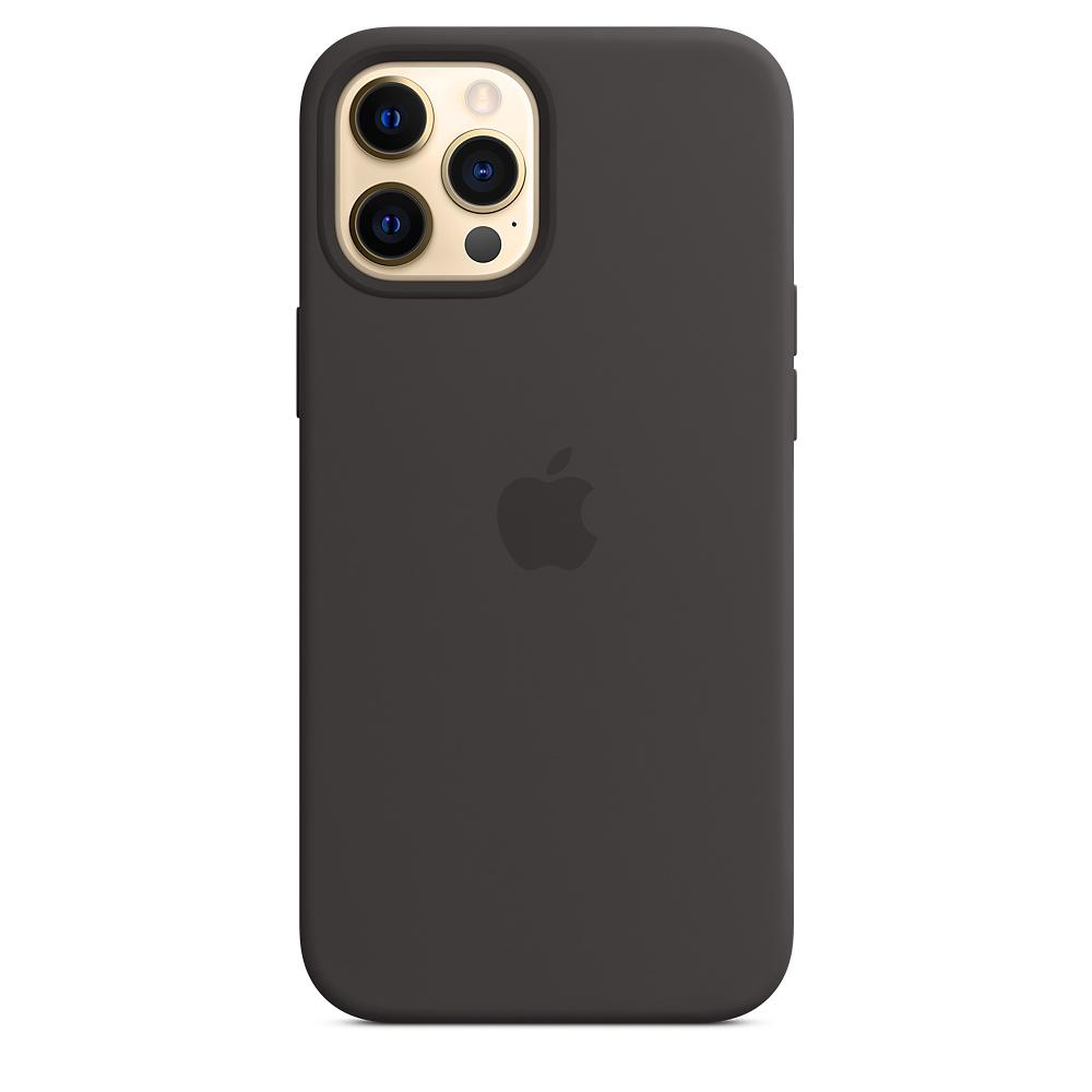 Apple silikónový obal pre iPhone 12 Pro Max – čierny s MagSafe 1