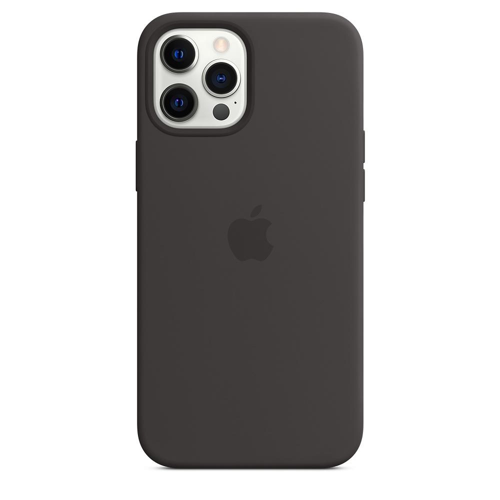 Apple silikónový obal pre iPhone 12 Pro Max – čierny s MagSafe 2